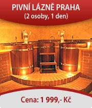 Pivní lázně Praha pro dva